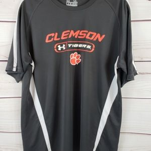 Mens Clemson Under Armour Heat Gear Athletic Shirt